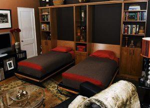 giường đôi đa năng gấp tường
