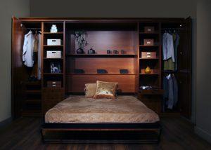giường đơn đa năng gấp tường