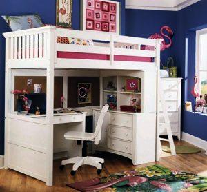 giường tầng đa năng cho 2 bé gái