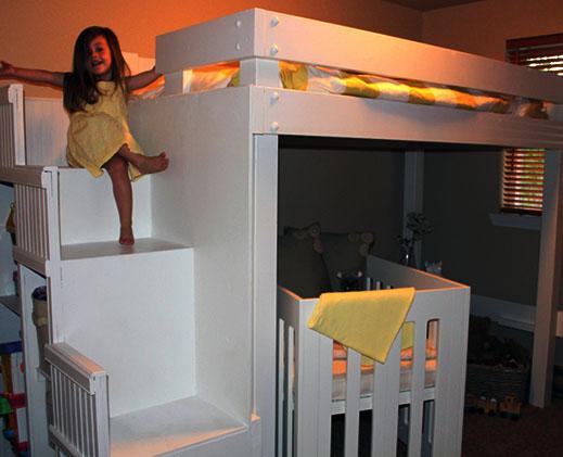 giường tầng đa năng cho bé