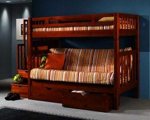giường tầng đa năng với nệm nhẹ